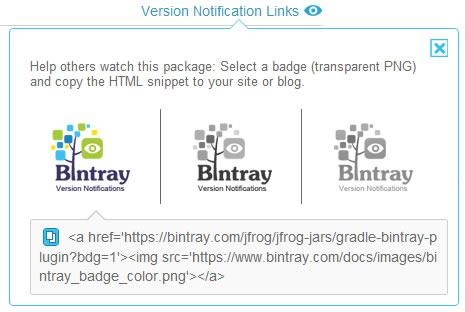 Version Notification Link Badge