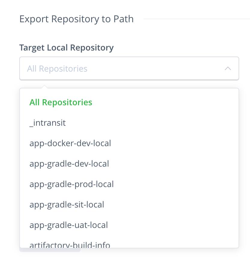 Export repository