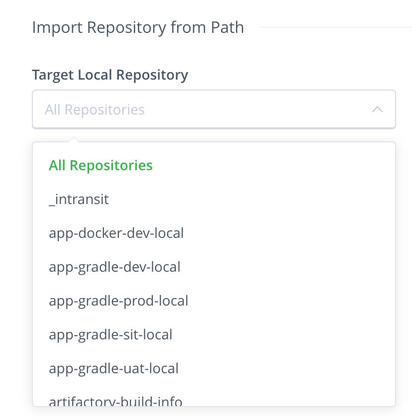 Import repository