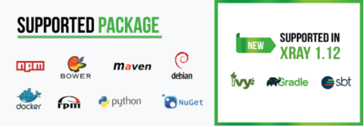 Supported Packages in JFrog Xray