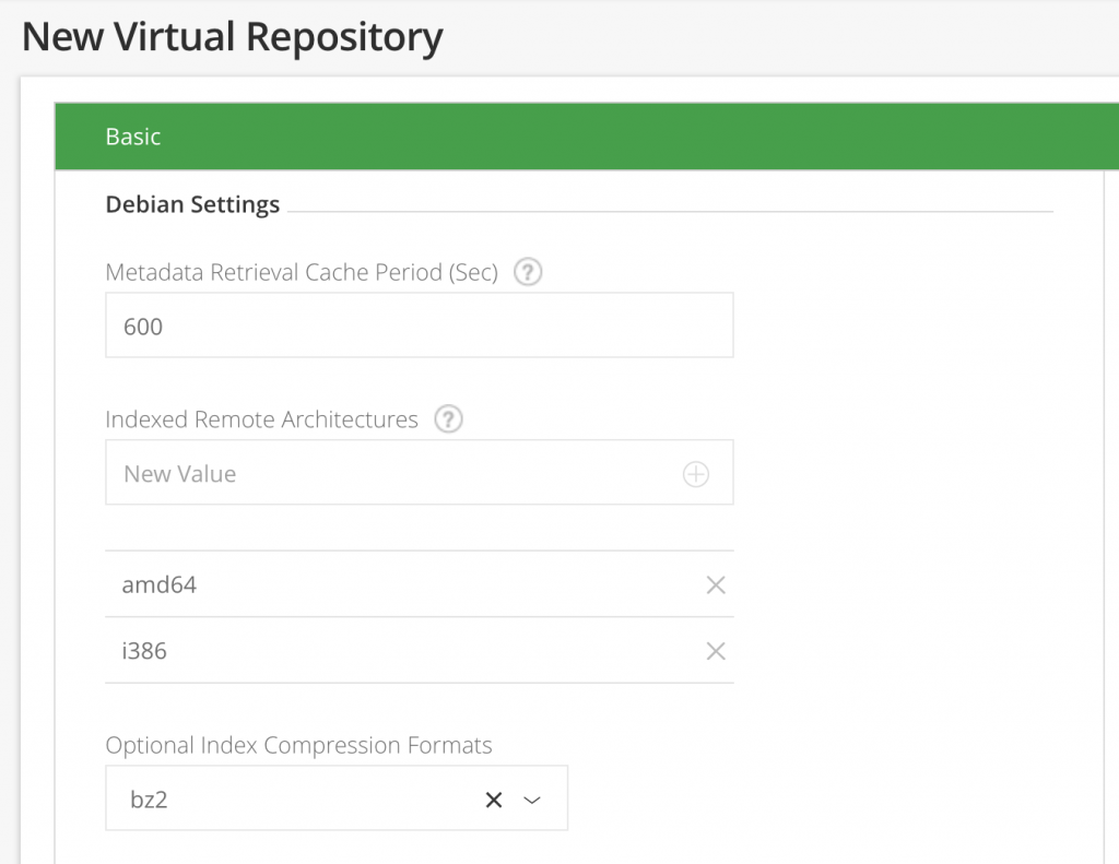 Virtual Debian repos in Artifactory