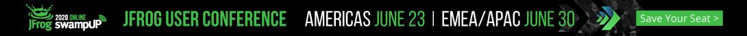 swampUp 2002 JFrog User conference banner