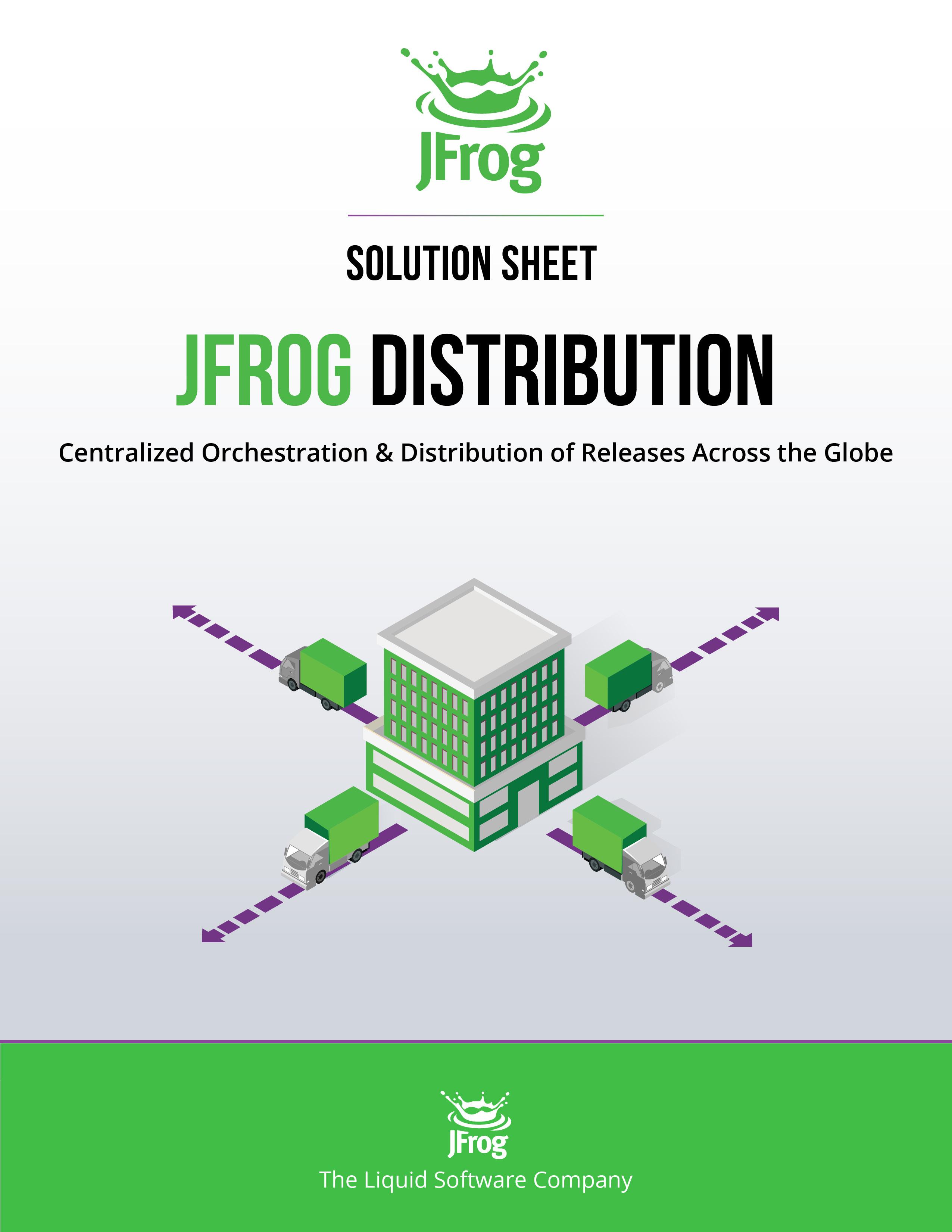 JFrog Distribution Solution Sheet