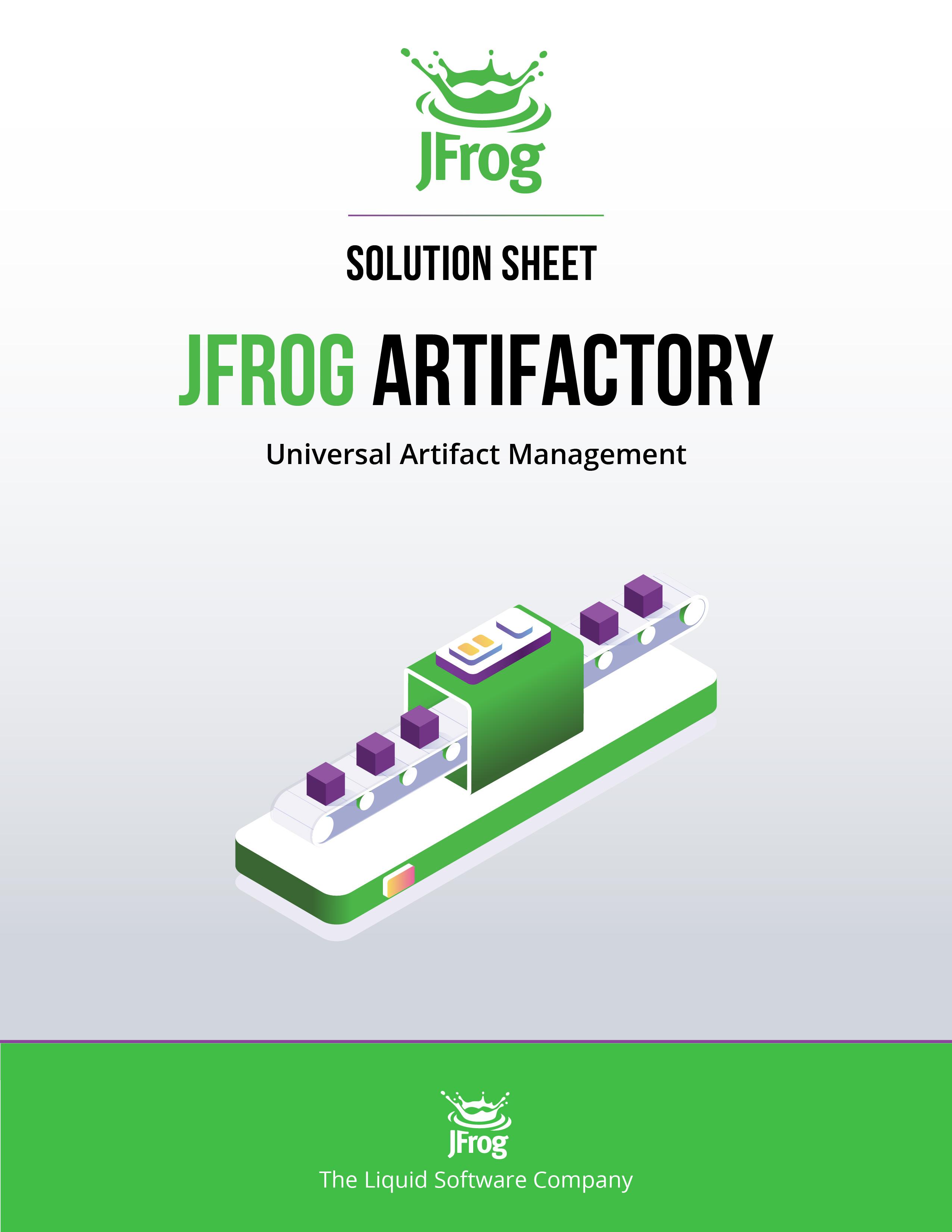 JFrog Artifactory Solution Sheet