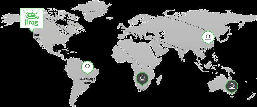 JFrog Hybrid world map