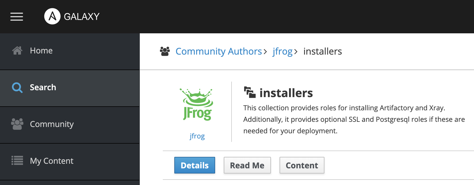 JFrog Ansible collection