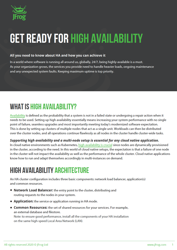 Get Ready for High Availability
