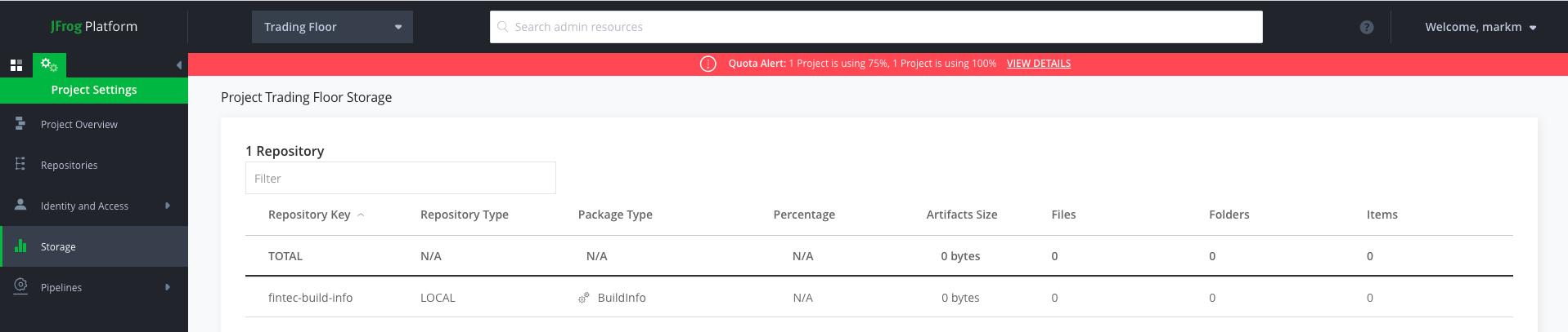 JFrog Platform - Managing Storage Thresholds