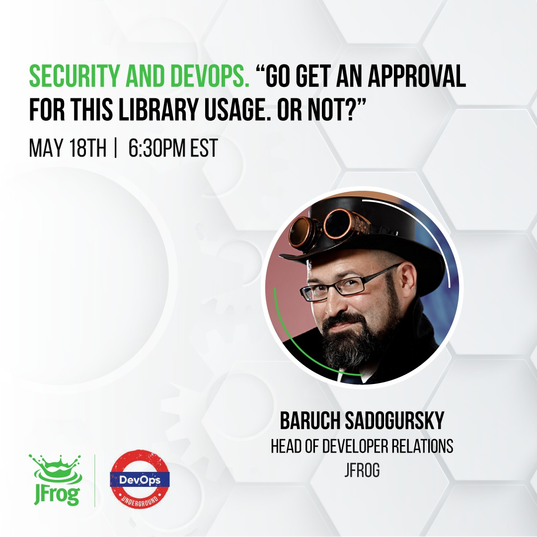 """Security and DevOps. Go get an approval for this library usage. Or not?""""@ DevOps Underground Meetup"""