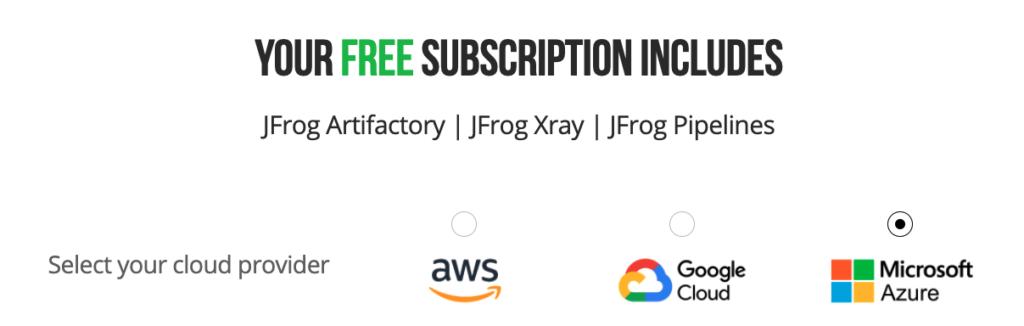 JFrog Free Subscription Signup