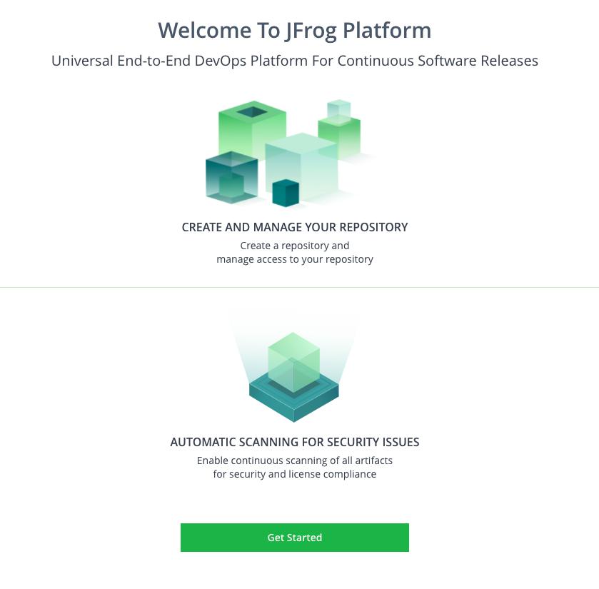 JFrog Platform Get Started