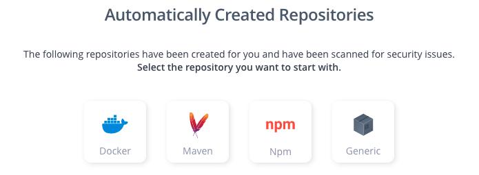 JFrog Platform Automatically Created Repositories