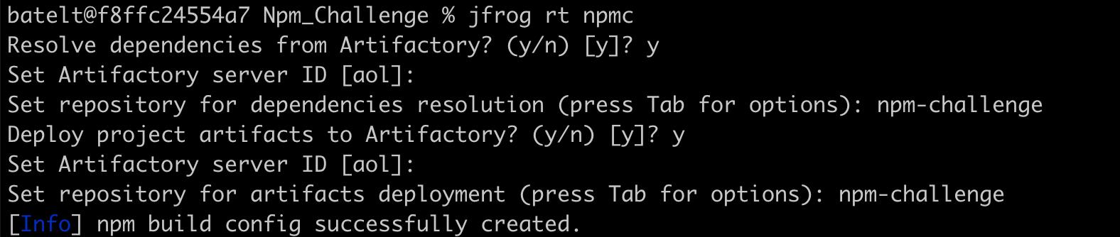 Configure JFrog CLI